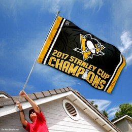 Wholesale Flag Cups - Pittsburgh Team Penguins Stanley Cup Champions Flag Football fan Cheerleading Flag custom Sports & Outdoors Hockey College Team Flags