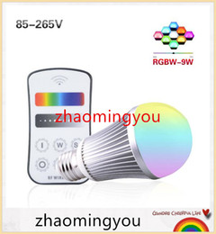 Wholesale Highest Power Rgb E27 9w - E27 LED Bulb Lamp High Power 9W 2.4G Wireless Wifi Control RGBW RGBWW Led Lamp With Touch screen Remote Controller Whole Set