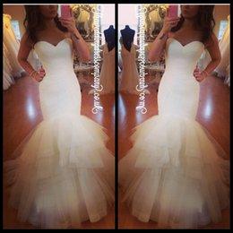 Sirena cabida vestido de novias de marfil online-vestido de noiva marfil vestidos de novia de la sirena novia sexy sin tirantes acanalada vestido de novia 2016 para vestidos de novia
