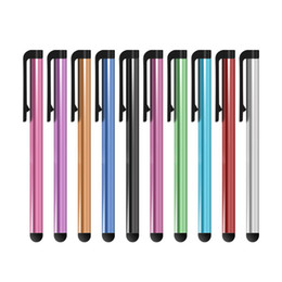 Wholesale Iphone S Cell - Universal Capacitive Stylus Pen For Iphone7 Plus 6 S 5 5S Touch Pen For Cell Phone For Tablet Different Colors 500Pcs Lot DHL Free Shipping