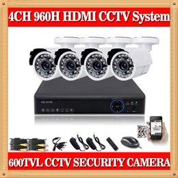 "Wholesale Dvr 6mm - CIA- kit dvr 600TVL Real time 960H 4CH H.264 DVR 4x 1 3"" CMOS IR Cut 3.6mm 6mm Lens Day Night Outdoor CCTV Cameras Security System"