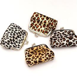 Wholesale Wholesale Mini Satin Gift Bags - Wallets Coin Purses Fashion Leopard Hasp Coin Purse Women Lady Wallet Money Bag Kids Girls Mini Purses Party Supplies Children Gift 2016 New
