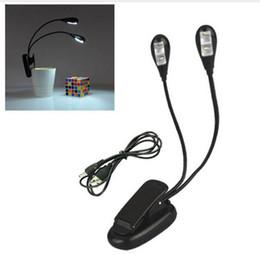 Mini Portable USB Lampe Flexible LED Livre Liseuse de Lumière pour Ordinateur Portable PC Portable Support Musique Éclairage Blanc 2 Bras 4led 3xAAA Baterry CE ROSH ? partir de fabricateur