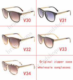 Wholesale Oversize Glasses - Hot sell High quality Luxury vintage brands designer shade fashion oversize sunglasses for women MEN glasses with original Zipper case
