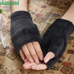Wholesale Wholesale Bamboo Keyboards - Wholesale- CharmDemon Winter Autumn Thick Warm Gloves Keyboard Leak Finger Gloves dr7