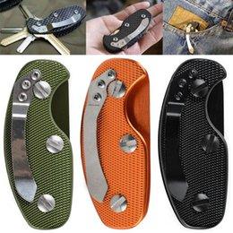 Wholesale Halloween Keychains - Key Wallets Holder Plain Metal Aluminum Clip Keys Folder Men Keychain keychains key chain Case Edc Gear Pocket Tool 2016 wholesale