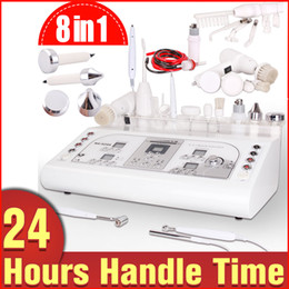 Wholesale Galvanic Face Lift Machine - 2016 Big Promotion High Frequency Black Head Removal Galvanic Face Lifting Moles Remove Freckle Remover Anti-aging 8in1 Machine