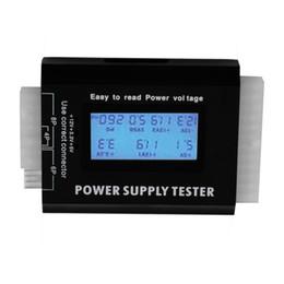 Wholesale Power Supply Pc Pins - Digital LCD LED PC Computer PC ATX Power Supply Tester 20 24 Pin SATA HDD Testers SATA HDD 4pin 6pin 8pin floppy iTX ATX BTX