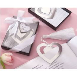 20pcs marcador de plata del metal del corazón con el regalo nupcial del favor de la boda del partido de la borla 4 copo de nieve del estilo nuevo desde fabricantes