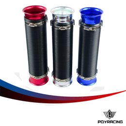 Wholesale Red Intake - PQY STORE-Universal 76mm Turbo Multi Flexible Air Intake Pipe (sliver,red,blue)