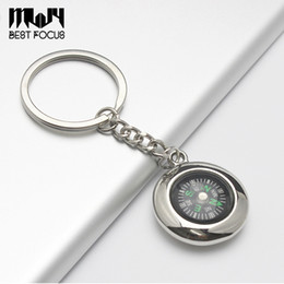 Wholesale Watches Alloy Zinc - MLJY Compass Keychain Tyre Shaped Compass Decoration Pocket Alloy Key Ring Watch Style Adventure Camping Hiking Creative Gift