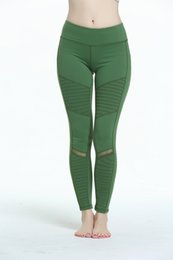 Wholesale Tight Clothes Dance - Fitness Yoga Leggings Mesh Compression Women Sportwear Gym Running Training Dancing Soft Tights Workout Pants Trousers Yoga Clothes