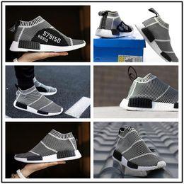 Wholesale Vintage Flats - Nmd City Sock Men Women NMD CS1 City Sock PK (Core Black Vintage White Ftwr White Casual Sports Shoes Footwear Eur 36-45