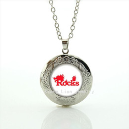 Wholesale Rugby Day - Fashion body jewelry locket necklaces Pendants sport Rocks rugby jewelry football sport accessory gift for boys and girls NF046