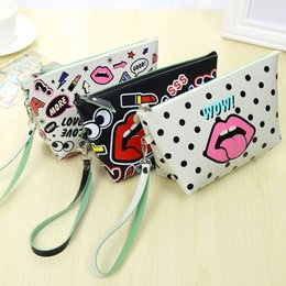Wholesale Organizer Travel Handbags - Multifunction Women Girl Cute Travel Organizer Handbag Purse Lady Makeup Cartoon Cosmetic Bag Travelling Bag Free Shipping