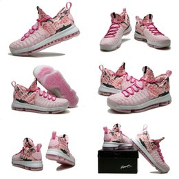 Cheap kd shoes flowers - Drop Shipping Wholesale Famous Durant KD 9 Low Pink  Black Flowers