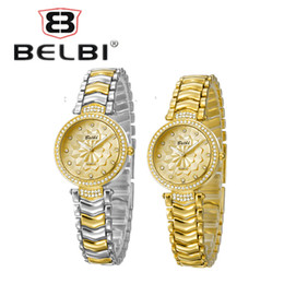 Wholesale Digital Shade - Luxury Women Flower Wristwatches Shading Designer Minialist Ladies Watches Casual Leisure Alloy Wrist Watch Brand Belbi