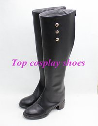 Wholesale Shoe Welt - Wholesale-Seraph of the End Anime Lacus Welt Cosplay Shoes Black Boots shoes ver 2 #TS162 Custom made