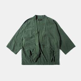 Wholesale Men Judo - Fall-Japan Harajuku Kimono Jacket Judo Jacket Half Sleeve Coat Streetwear Fashion Men Clothing 003W16