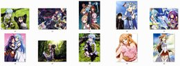 Wholesale sword art online SAO anime Characters sexy girl asuna silica sheet gun gale online sinon blanket Duvet Cover