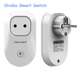 Wholesale Plug Standard - Orvibo S20 WiFi Smart Socket Smart power plug EU,US,UK,AU Standard Power Socket Cell Phone Wireless Remote Control Home Appliance Automation