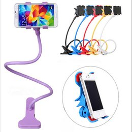 Wholesale Iphone Desktop Stand Holder - Universal Lazy Bracket Mobile Phone Flexible Long Arm phone holder stand desktop Desktop Bed holder 360 Rotating for iphone 6 Samsung S7 HTC