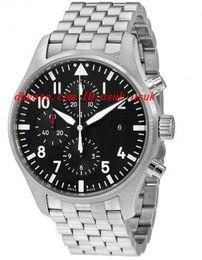 2019 reloj de piloto negro para hombre Reloj de pulsera de lujo de calidad superior Pilot Dial Negro Cronógrafo de los hombres 43MM Relojes para hombre Relojes reloj de piloto negro para hombre baratos