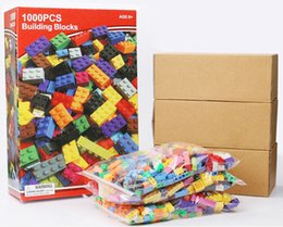 Wholesale Toy Building Blocks Bulk - 1000pcs Bulk Building Blocks DIY Bricks with Free Lifter Space Wars Super Heroes Harry Potter Building Bricks Construction Blocks Toys