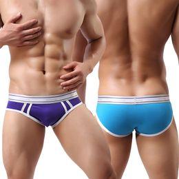 Wholesale Mens White Briefs - Men Boxer Underwear Mens Shorts Boxers Homme Men's Cotton Novel Striped Colorful Design Style Sexy Flat Angle Comfort Homewear Underwear