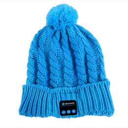 Wholesale Headbands For Winter - Soft Warm Beanie Hat Wireless Bluetooth Smart Cap Headphone Headset Speaker Mic Winter Magic Hands-free Music mp3 Hat for woman Men