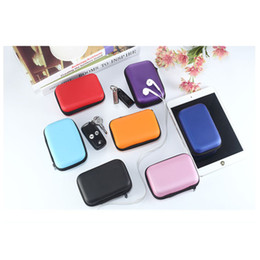 Wholesale Cheap Men Fashion Bags - Colorful Earphone Headphone Earbud Carrying Storage Bag Pouch Hard Zipper Case For USB Cable And Coin With Cheap Price 50PCS Free Shipping