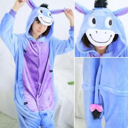 Wholesale Donkey Kigurumi - Cute Donkey Kigurumi Pajamas Animal Suits Cosplay Outfit Halloween Costume Adult Garment Cartoon Jumpsuits Unisex Animal Sleepwear