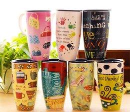 Wholesale Coffee Mugs Sale Free Shipping - Hot Sale Hand-painted Cute Cartoon Mugs Drink Ware Free Shipping Hand-painted Cartoon Creative Coffee Couples Mugs 107