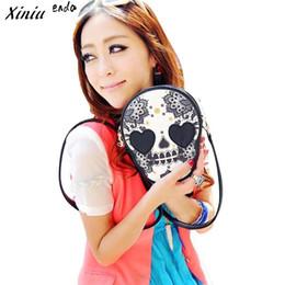 Wholesale Crossbody Bags Skulls - Wholesale- Xiniu Women Messenger Bags Skull Shape Women Handbag Crossbody Bags For Women Bag Bolsas Feminina