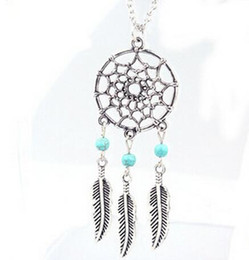 Wholesale Hot Gifts For Women - 2016 Fashion hot Pendant Necklaces 4 Styles Alloy Dream Catcher girl Necklace For Women Statement Necklace Jewelry Dreamcatcher NK27