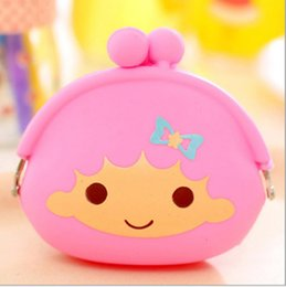 Wholesale Heart Shaped Wallet Purse - high quality Heart Shape Silicone coin bag coin purse silicone money bag puse Japanese style coin wallet