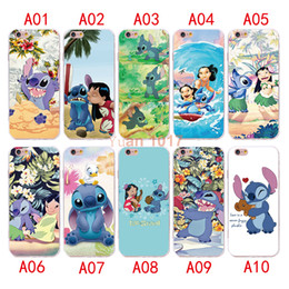 Wholesale Lilo Stitch Phone Cases - New style Lilo And Stitch Case For iPhone 7 6 6S plus Silicone Cover Case Luxury Ultra Thin Soft TPU For iPhone 5 4 se Mobile Phone bag