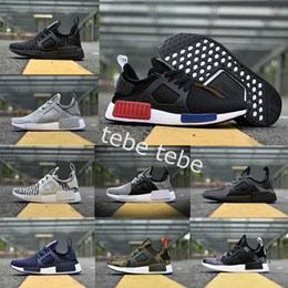 Wholesale Footwear Cuttings - 2017 NMD XR1 running shoes green Duck Camo sports Sneakers Men fall olive green White Nmds Camo high quality Footwear Women Outdoor Shoes