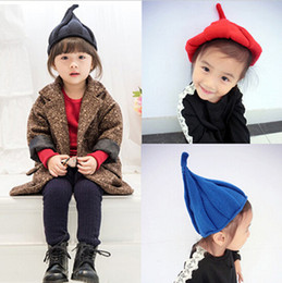 Wholesale Wholesale Seven Hats - DressyOnly Girls' cute Winner Hats Kids Knitting Hats Girls Boys Hat Toddler Children Hats Seven colors D55