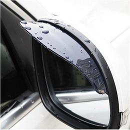 Wholesale Ford Focus Mirrors - Universal Flexib PVC Rearview Mirror Rain Shade Rainproof Car back mirror eyebrow rain cover for ford focus 2 3 Hyundai solaris Mazda CX-5