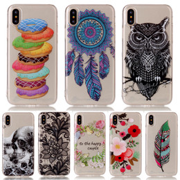 Wholesale Tpu Print Case 5s - New Thin TPU Silicone Case For iPhone X Case Printed Dog Cover For iPhone 5C 5S 6 6S 7 8 Plus Touch 5