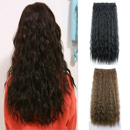 Wholesale Cheap Synthetic Hair Weave - Z&F Cheap 110G 60CM Yaki Straight Clip In Hair Extensions Curly Weave Synthetic Hairpiece For Charming Women