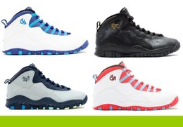 Wholesale Free Nyc - Wholesale Air Retro 10 NYC RIO CHICAGO CHARLOTTE Michael Basketball Shoes Men size 7 13 Free shipping