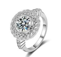 Anello di fidanzamento con diamante rotondo Taglio brillante rotondo certificato 4,50 CT oro bianco 18 carati da anello di fidanzamento del diamante taglio rotondo 14k fornitori