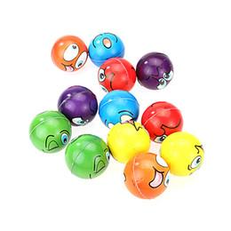 Wholesale fun exercises - 12pcs lot Modern FUN Emoji Face Squeeze Balls Stress Relax Emotional Hand Wrist Exercise Anti-stress Balls Toys for Children