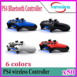 Wholesale Playstation Controller For Pc - NEW For Sony PS4 Controller Joystick Gamepads for PlayStation 4 For PS4 Bluetooth Wireless Game Controller 50 pcs YX-PS4-13