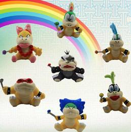 Wholesale Wendy Koopa Toy - Super Mario Plush Toys Wendy Larry Lemmy Ludwing O. Koopa Plush Dolls Super Mario Figure Koopalings Doll Gifts Stuffed Toy KKA3151