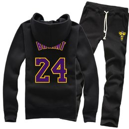 Wholesale Men Red Cardigan Sweater - New Wholesale Basketball Los Angles Kobe Bryant Lakers Winter Pure Cotton Zipper Fleece Hoodies Sweater Coat Jackets Sports Pants Tracksuit