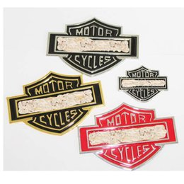 Wholesale personalize logo - Cool 3D Metal Motorcycle badge emblem sticker Auto logo accessories Funny car stickers styling badge metal Universal
