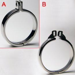 Wholesale Cock Sounding Toys Sizes - Top Quality Stainless Steel Cock Ring 5 Size Choose Can Fit for Chastity Device Cock Cage Chastity Belt BDSM Toy Penis Bondage